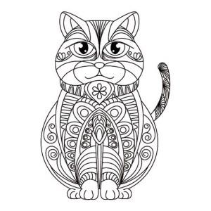 Mandala de Gato Persa