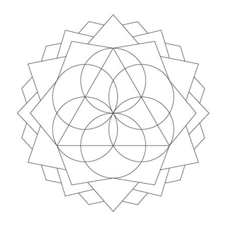 Mandala Geométrico Tríada