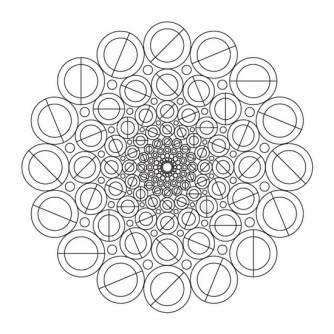 mandalas círculos abstractos geometricos