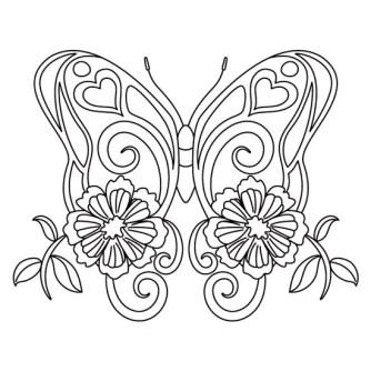 mandala de animales mariposa
