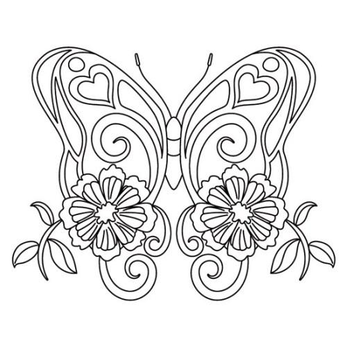 mandalas para colorear de animales - mariposa