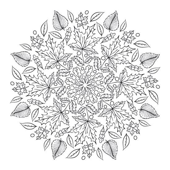 mandala de flores de otoño