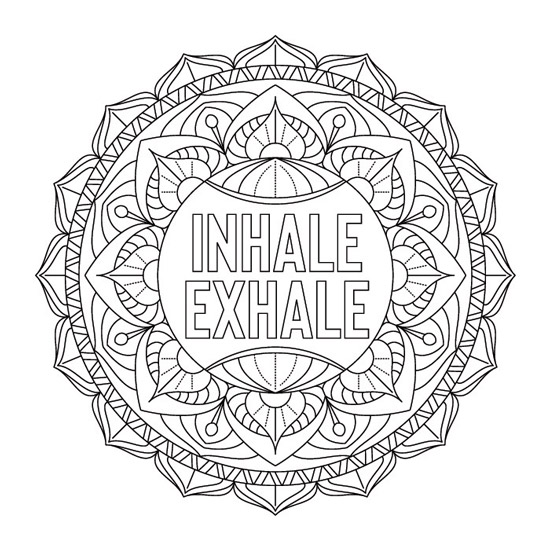 mandala de inspiracion Inhale Exhale