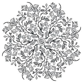 Mandala Flores Otoño