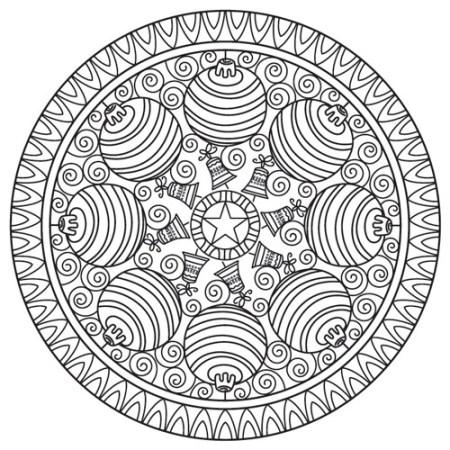 mandala de esferas de navidad
