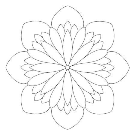 mandalas de flores