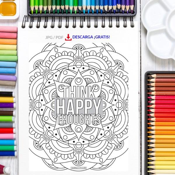 Mandala Happy Thoughts