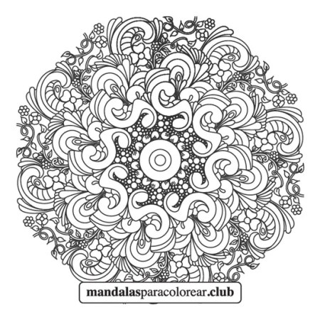mandala de flores zentangle