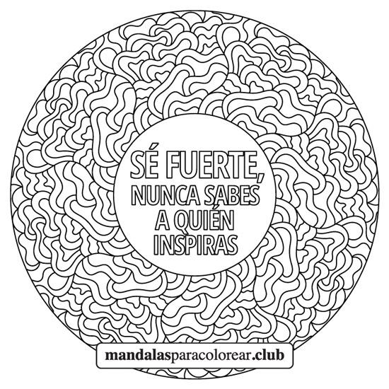 Mandala Zentangle con Frase de Inspiración