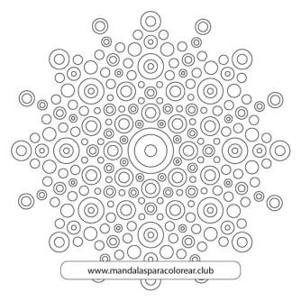Mandala con Puntillismo