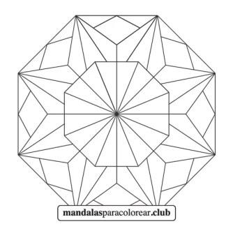 Mandala Abstracto de Mosaico
