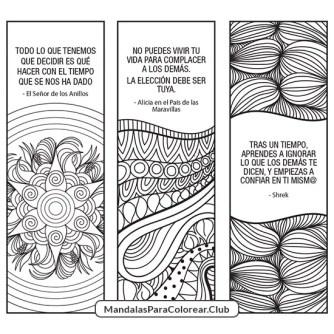 separadores de libros para imprimir y colorear