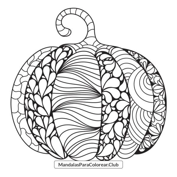 Calabaza estilo Zentangle