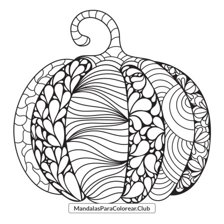 Calabaza estilo Zentangle