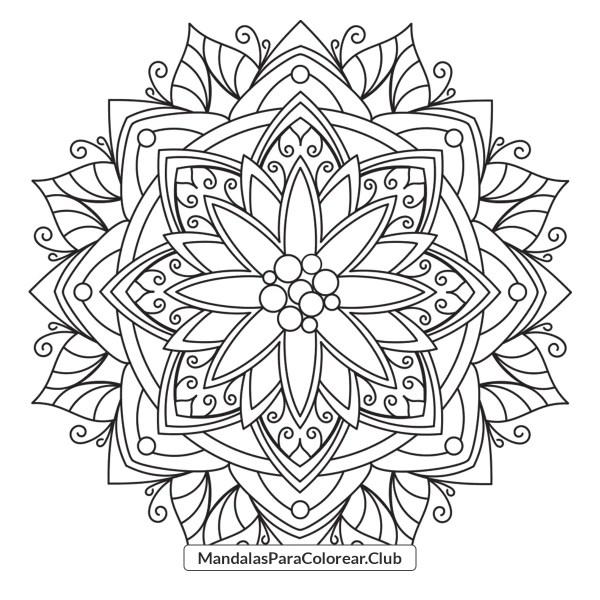 Mandala de Nochebuenas de Navidad
