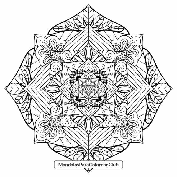 Mandala de Mosaico Floral JPG PNG