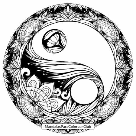 Mandala Yin and Yang