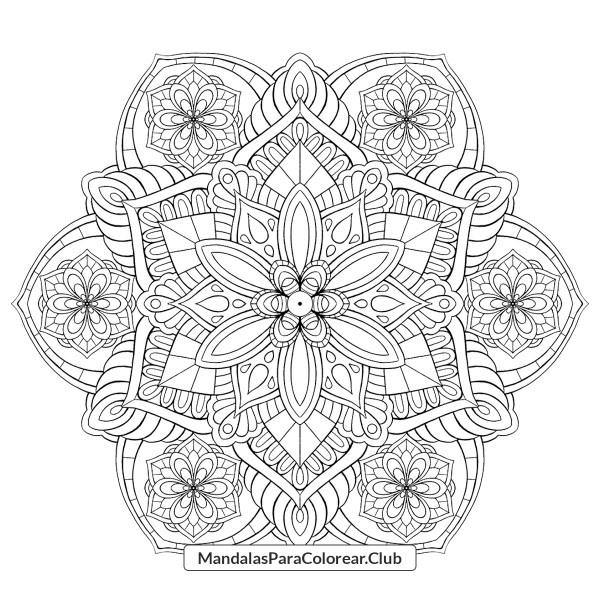 Mandala Floral con Retornos
