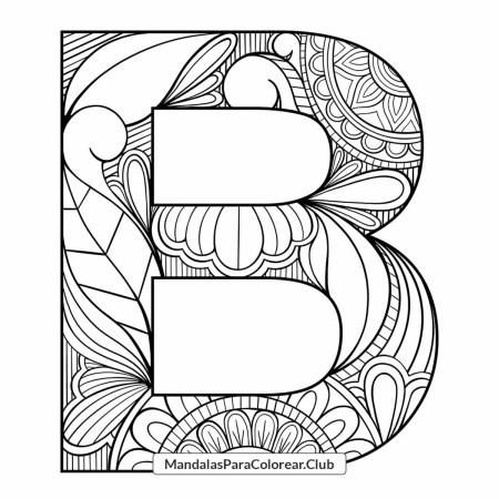 Mandala Letra B Zentangle