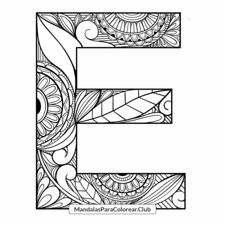 Mandala Letra E Zentangle