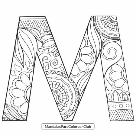 Mandala Letra M Zentangle