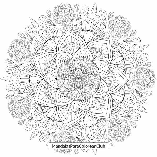 Mandala de Flores de Loto