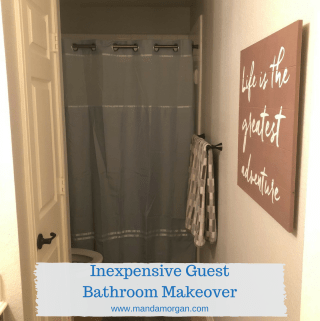Inexpensive Guest Bathroom Makeover