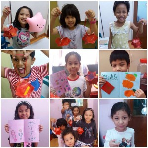 Our students were enjoying doing their CNY crafts