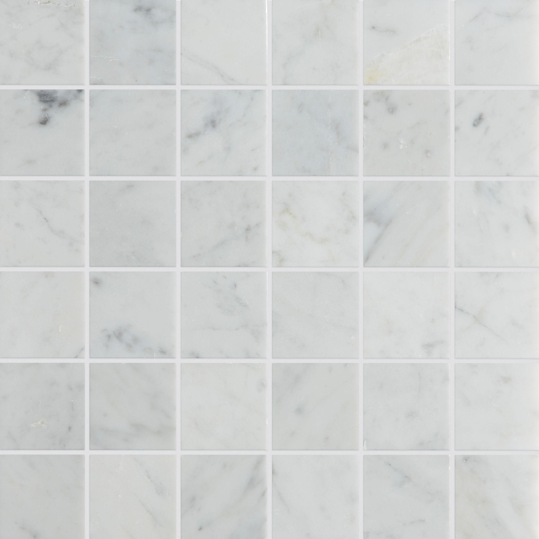 carrara honed marble mosaic tile mandarin stone