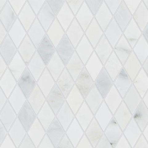 alsace honed marble diamond mosaic