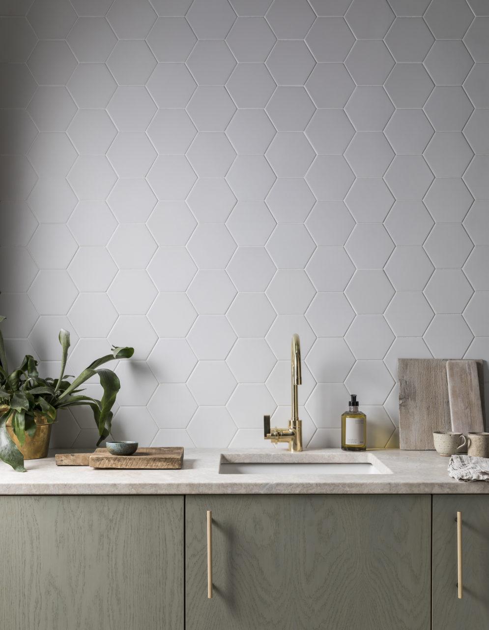 oska linen matt porcelain hexagon