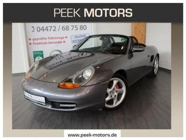NOUVEAU +++ Porsche Voiture d'occasion: Porsche Boxster 2.7 Navi Leder Sihzg Alu 18Zoll Top Zust für 13890 € +++ Les meilleures offres | Cabriolet/Décapotable, 104000 km, 2002, Essence, 220 CV, Gris | 137149778 | auto.de