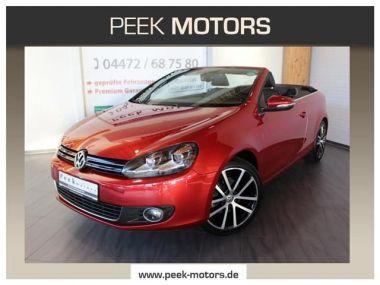 NOUVEAU +++ VW Voiture d'occasion: VW Golf VI Cabrio 1.6 TDI Navi Xenon Alu18 Leder für 17190 € +++ Les meilleures offres   Cabriolet/Décapotable, 27400 km, 2013, Diesel, 105 CV, Rouge   136755113   auto.de