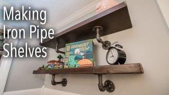 Making Iron Pipe Shelves