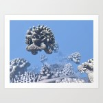 """Stone Frog"" Mandelbulb photograph by Matthew Haggett, 2012. 3D Fractal Art. Archival print."