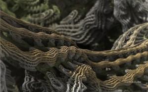 """Cascade Advance II"" 3D Fractal Art, By Matthew Haggett, 2012"