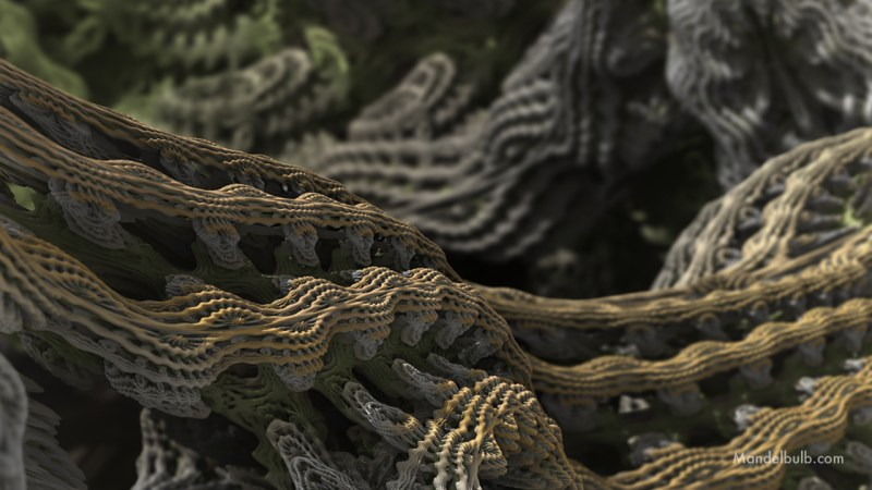 """Cascade Advance II"" 3D Fractal Art, By Matthew Haggett 2012"