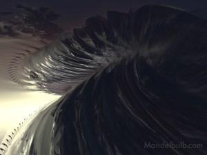 """Mesa Diablo"" 3D Fractal Art, By Kurt Dahlke, 2012"