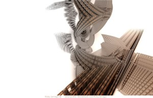 Twisted Intent, 3D fractal art by Ricky Jarnagin/DsyneGrafix (c)