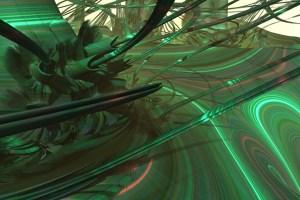 Satellite Whip, Kurt Dahlke (c) 2013. 3D fractal art example: Mandelbulb hybrid with folding equations.
