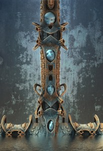 """""""Riddle Totem"""", by Hal Tenny"""