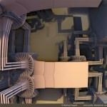 """Sierpinski Hilbert Labyrinth 4"" by Matthew Haggett"