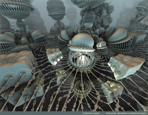 """""""The Penumbra"""" by Matthew Haggett""""The Penumbra"""" by Matthew Haggett. Created with Mandelbulb 3D fractal rendering software."""