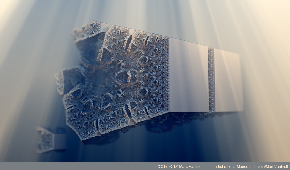 """""""Cooly Structure"""" by Marc Vanlindt. 3D fractal art created with Mandelbulb 3D."""