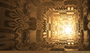 """Corridor"" by Marc Vanlindt. 3D fractal art created with Mandelbulb 3D."