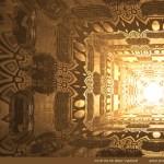 """Corridor Light"" by Marc Vanlindt. 3D fractal art created with Mandelbulb 3D."