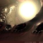 """Light Sphere"" by Marc Vanlindt. 3D fractal art created with Mandelbulb 3D."