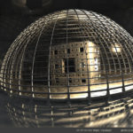 """Menger In Cage"" by Marc Vanlindt. 3D fractal art created with Mandelbulb 3D."