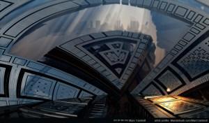"""Oldtown"" by Marc Vanlindt. 3D fractal art created with Mandelbulb 3D."