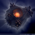 """Strange Thing"" by Marc Vanlindt. 3D fractal art created with Mandelbulb 3D."